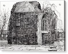 Blackfriars Chapel St Andrews Acrylic Print by Vincent Alexander Booth