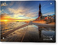 Acrylic Print featuring the photograph Blackpool Sunset by Yhun Suarez