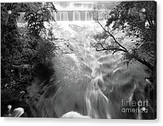 Blackstone River Dam At Manville Acrylic Print