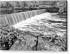 Blackstone River Dam Manville Rhode Island Acrylic Print