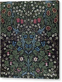 Blackthorn Wallpaper Design Acrylic Print by William Morris