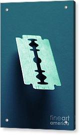 Blade On Blue Acrylic Print by Carlos Caetano