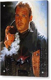 Blade Runner Acrylic Print by Neil Feigeles