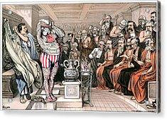 Blaine Cartoon, 1884 Acrylic Print by Granger