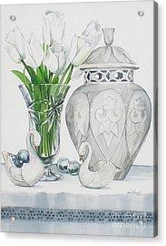 Blanc De Blanc Acrylic Print