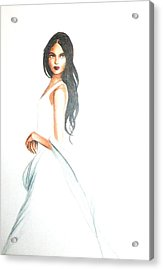 Acrylic Print featuring the drawing Blanca by MB Dallocchio