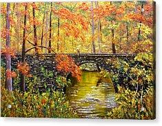 Blanchard Springs Arkansas Acrylic Print by Connie Tom