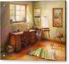 Blank Canvas Acrylic Print