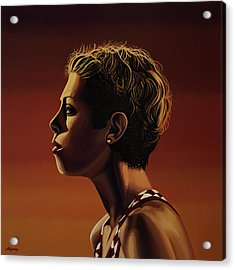 Blanka Vlasic Painting Acrylic Print by Paul Meijering