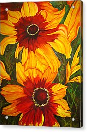 Blanket Flower Acrylic Print by Lil Taylor