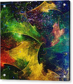 Acrylic Print featuring the digital art Blanket Of Stars by Klara Acel