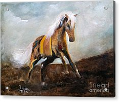 Blanket The War Pony Acrylic Print by Barbie Batson