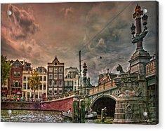Acrylic Print featuring the photograph Blauwbrug -blue Bridge- by Hanny Heim