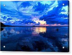 Blazing Blue Sunset Acrylic Print