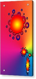 Blazing Colors Abstract Acrylic Print by Aimee L Maher Photography and Art Visit ALMGallerydotcom