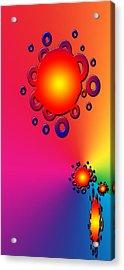 Blazing Colors Abstract Acrylic Print
