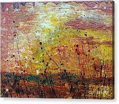 Acrylic Print featuring the painting Blazing Prairie by Jacqueline Athmann