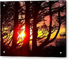 Blazing Sunset Acrylic Print