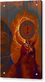 Blazzing Wisdom Through Odins Essence Acrylic Print by Stephen Lucas