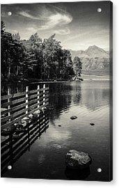 Blea Tarn Acrylic Print by Dave Bowman