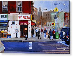 Bleecker Street Acrylic Print by John Tartaglione