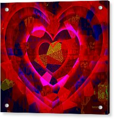 Bleeding Hearts For The Elderly In Haiti Acrylic Print by Fania Simon