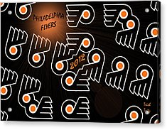 Bleeding Orange And Black - Flyers Acrylic Print