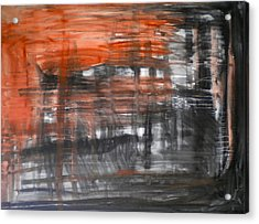 Bleeding Through Acrylic Print by Dylan Chambers