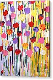Bleeding Tulips Acrylic Print