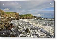 Blegberry Beach In North Devon Acrylic Print