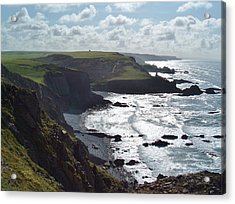 Blegberry Cliffs From Damehole Point Acrylic Print