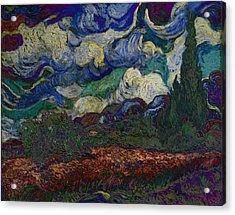 Blend 19 Van Gogh Acrylic Print by David Bridburg
