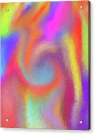 Blended Skittles Acrylic Print