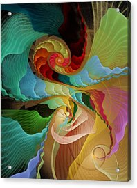 Blending Into Our Souls Acrylic Print by Gayle Odsather