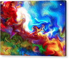 Blending The Elements Of Creation  V.3 Acrylic Print by Rebecca Phillips