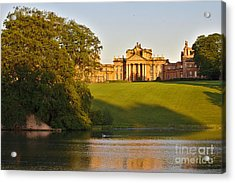 Blenheim Palace And Lake Acrylic Print