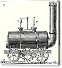 Blenkinsop's Toothed Rack Locomotive Acrylic Print
