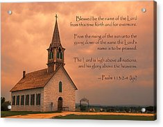 Bless The Lord Acrylic Print