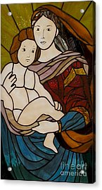 Blessed Art Thou Among Women-mary Acrylic Print by David Gomm