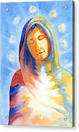 Blessed Mother Acrylic Print by Juanita Yoder