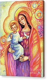Acrylic Print featuring the painting Blessing Of The Light by Eva Campbell
