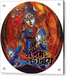 Blessing Shiva Acrylic Print