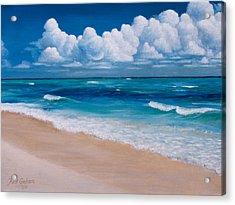 Blessings Found At Playa Del Carmen Acrylic Print by Kirk Graham