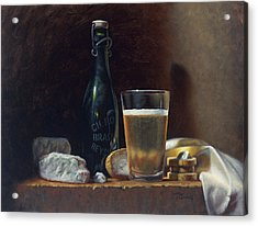 Bleu Cheese And Beer Acrylic Print by Timothy Jones