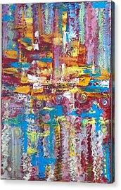 ''bleu,red And Yellow 2'' Acrylic Print