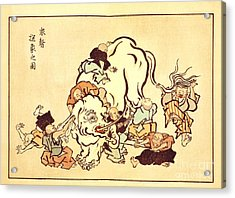 Blind Monks Examining An Elephant Acrylic Print