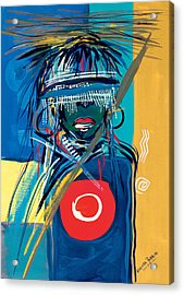 Blind To Culture Acrylic Print by Oglafa Ebitari Perrin
