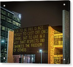 Blink Cincinnati - Freedom Center Acrylic Print