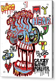 Bliss For My Heart Acrylic Print by Robert Wolverton Jr