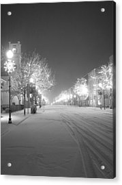 Blizzard On 3rd Acrylic Print by Jeremy Evensen